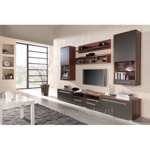 Home > Kasten > Tv-Wandmeubels > Wandmeubel TV-Meubel LINEA Hoogglans