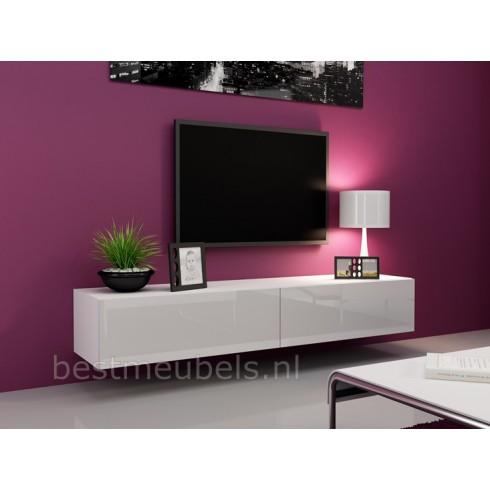 ... > Tv-Meubels > VERDI 1 180cm Zwevend Tv-Meubel Tv-Kast Hoogglans