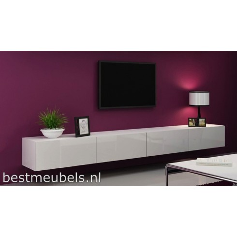 Home Gt Tv Meubel Ise Extreem Hoogglans Wit Rvs Blokpoot Pictures to ...