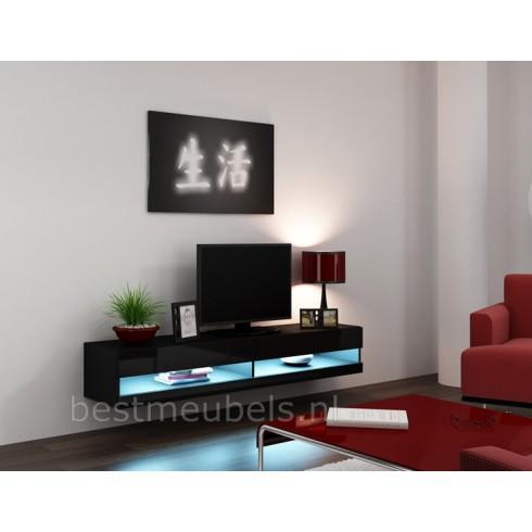 ... Tv-Meubels > VERDI 9 NIEUW 180cm Zwevend Tv-Meubel Tv-Kast Hoogglans