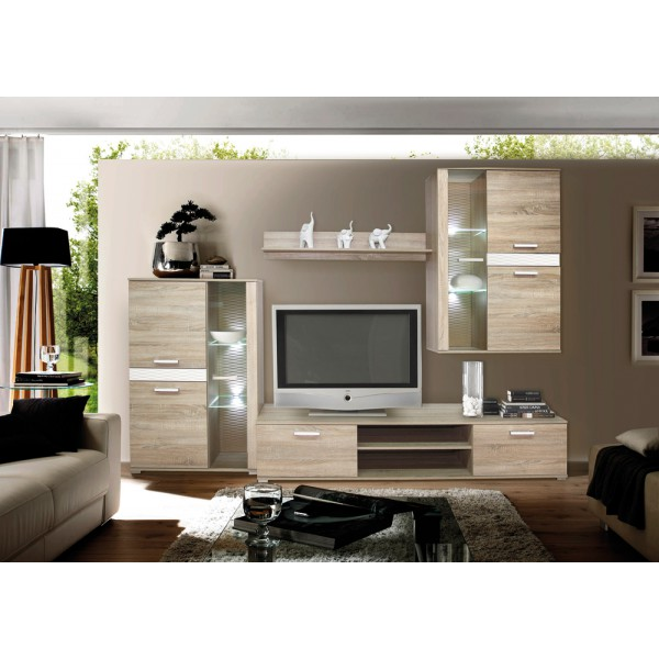 Wandmeubel , Tv-wandmeubel CENTO + LED Verlichting Tv-Wandmeubels ...