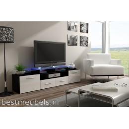 Zwevend Tv-Meubel Hoogglans Bruin VERDI 4 , Tv-kast 140 cm VERDI Tv ...