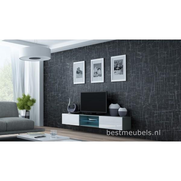 ... Tv-Meubels > VERDI 10 NIEUW Zwevend Tv-Meubel Hoogglans GRIJS Tv-kast