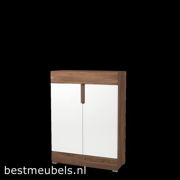TIEL Complete woonkamer , Hoogglans Wit .