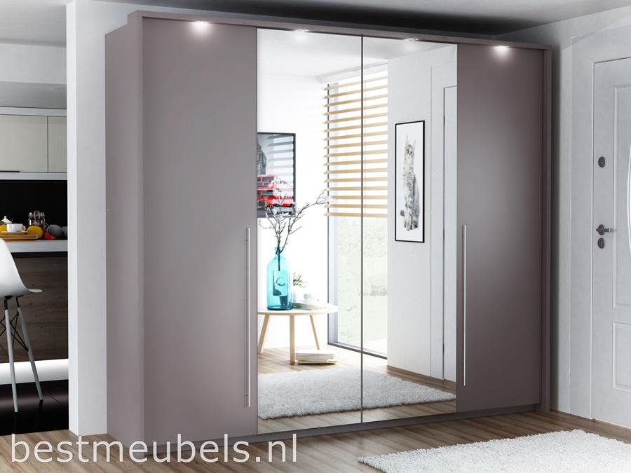 Barmea 255 cm kledingkast met spiegel.