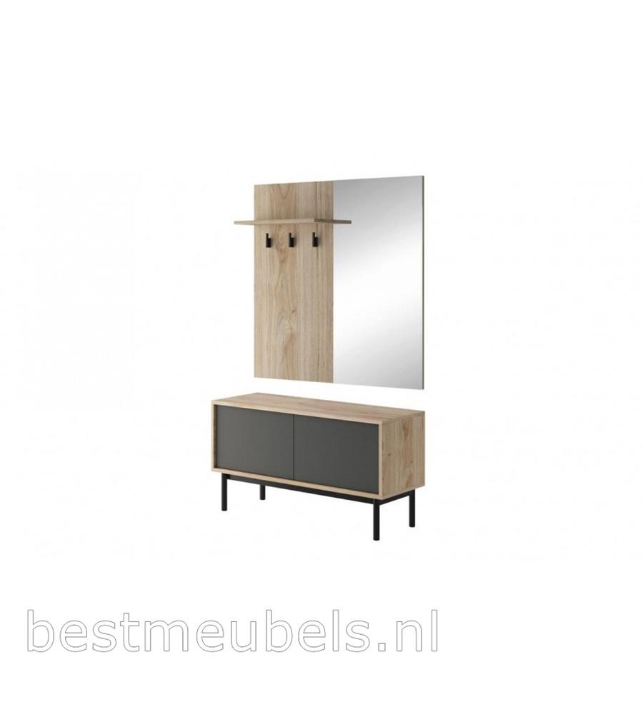 garderobepaneel met spiegel, halkast