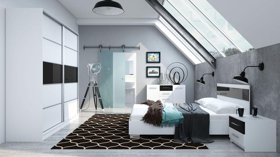 Slaapkamer Paars Zwart : Davos complete slaapkamer