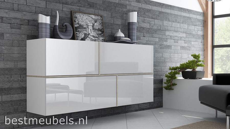 Zwevend dressoir hoogglans wit , tv-dressoir
