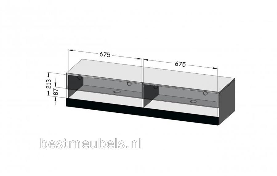 Zwevende Kast Slaapkamer : Verdi nieuw cm zwevend tv meubel hoogglans grijs tv kast