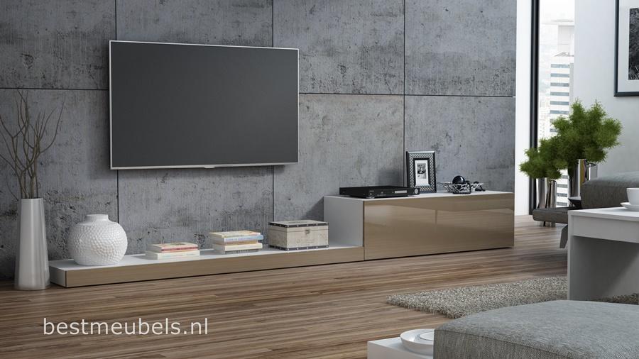 tv-kast hoogglans bruin tv-meubel