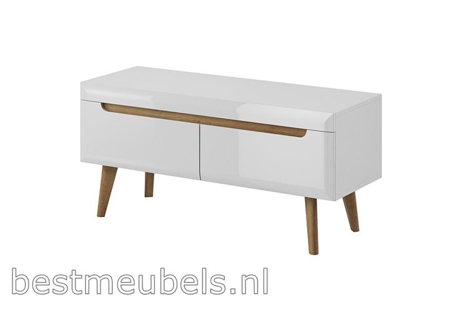 tv-meubel hoogglans wit, hout, bestmeubels 100cm