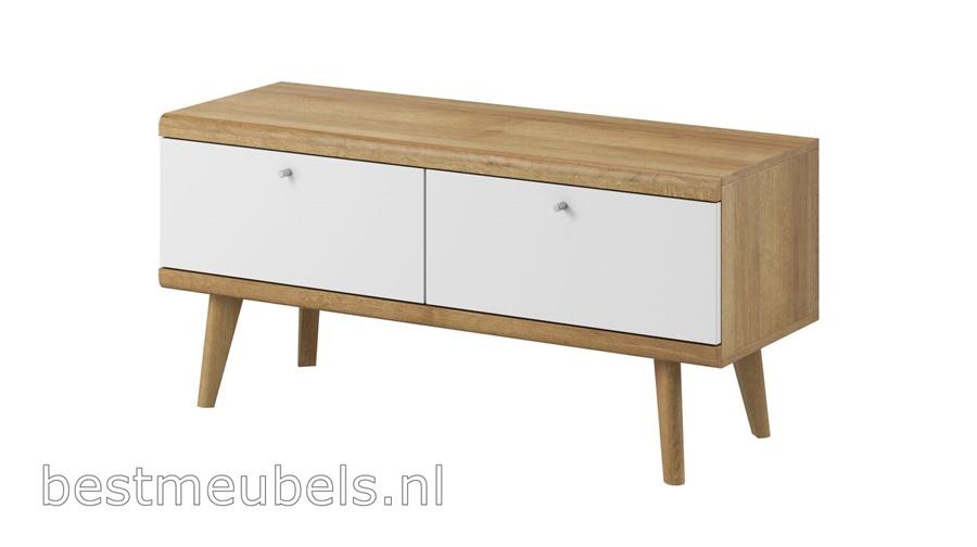 tv-meubel wit hout tv-kast woonkamer