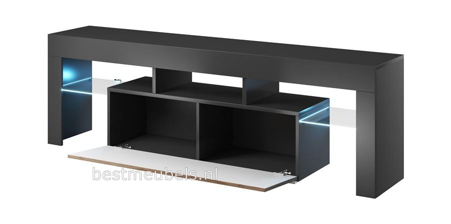 tv-meubel antraciet wotan tv-kast woonkamer grijs bruin