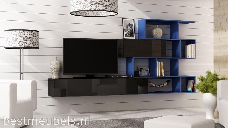 boekenkast hoogglans wit tv-meubel, tv-kast