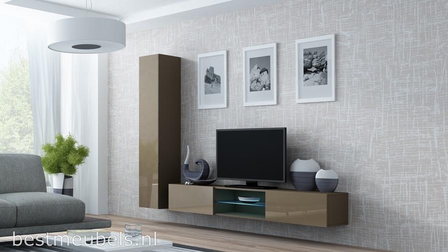 hoge kwaliteit tv-meubel, hangende tv-kast, gratis bezorging, goedkoopste wandmeubel hoogglans bruin, design, modern,best,