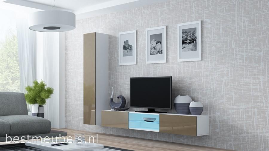 hoge kwaliteit tv-meubel, hangende tv-kast, gratis bezorging, goedkoopste wandmeubel hoogglans bruin, design, modern,