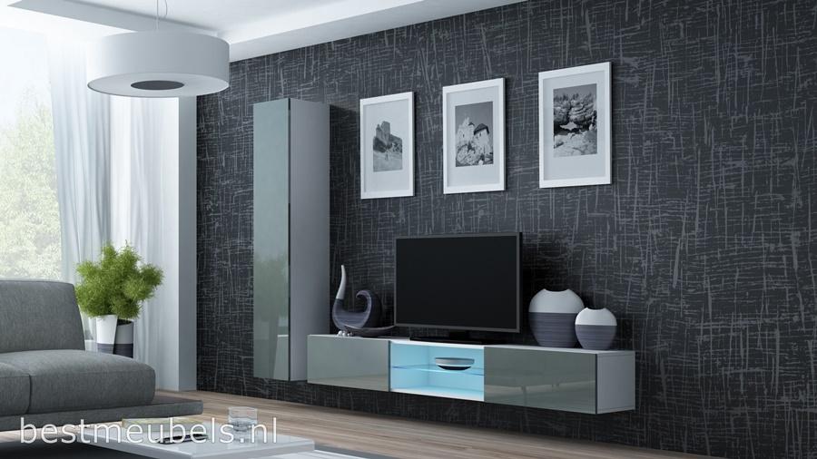 hoge kwaliteit tv-meubel, hangende tv-kast, gratis bezorging, goedkoopste wandmeubel hoogglans grijs, design, modern,