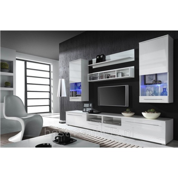 Wandmeubel TV-Meubel LINEA Hoogglans Tv-Wandmeubels ...