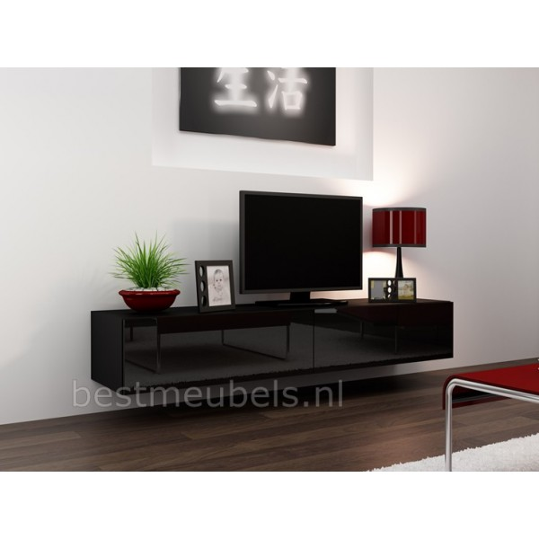 zwevend tv meubel tv kast hoogglans verdi tv wandmeubels best. Black Bedroom Furniture Sets. Home Design Ideas