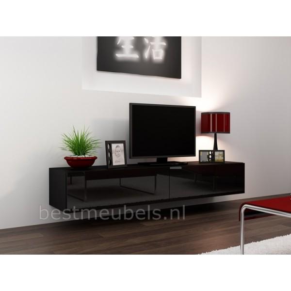Zwevend tv meubel tv kast hoogglans verdi tv wandmeubels best for Meubels keukens bedden matrassen banken kasten ikea