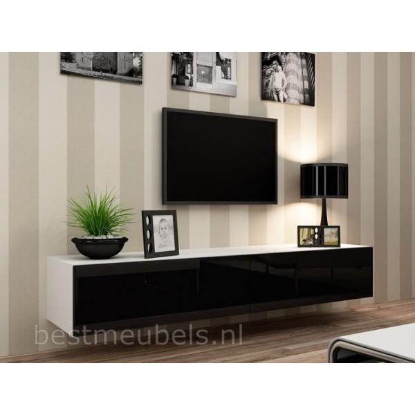 zwevend tv meubel tv kast hoogglans verdi tv wandmeubels best. Black Bedroom Furniture Sets. Home Design Ideas