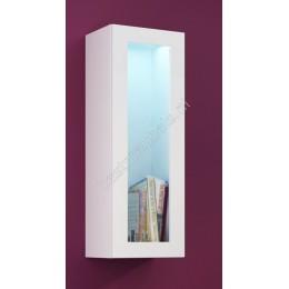 Zwevend vitrinekast VERDI 6 Hoogglans 90cm