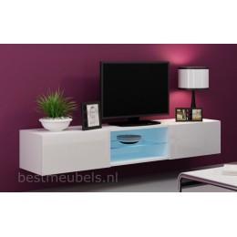 VERDI 10 NIEUW 180cm Zwevend Tv-Meubel Tv-Kast Hoogglans