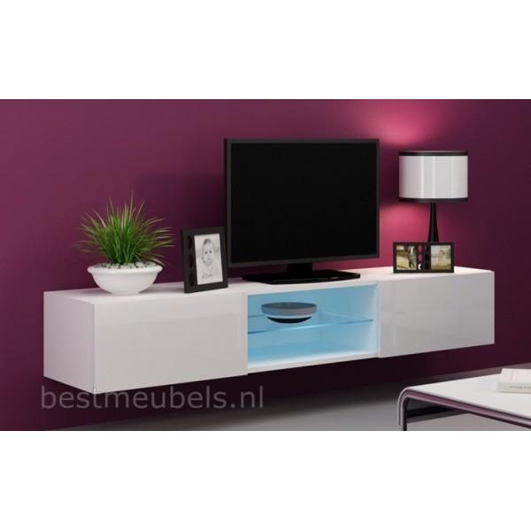 VERDI 10 NIEUW 180cm Zwevend Tv-Meubel Tv-Kast Hoogglans Direct uit  voorraad leverbaar Home-Best