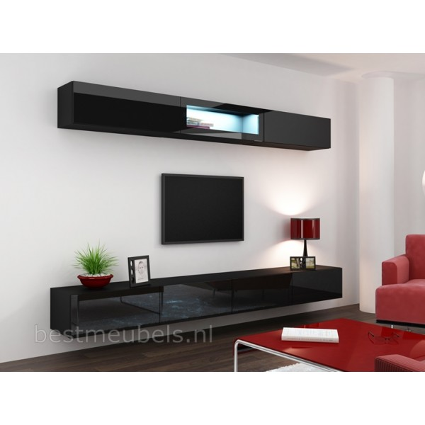 ... Wandmeubel VERDI Systeem 12 Hoogglans 280cm VERDI Tv-Wandmeubels-Best