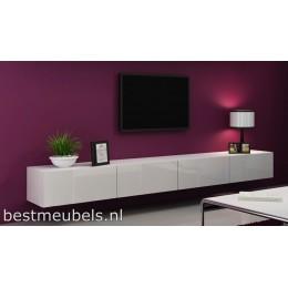Zwevend Tv-Kast / Tv-Meubel Hoogglans VERDI 11 280cm