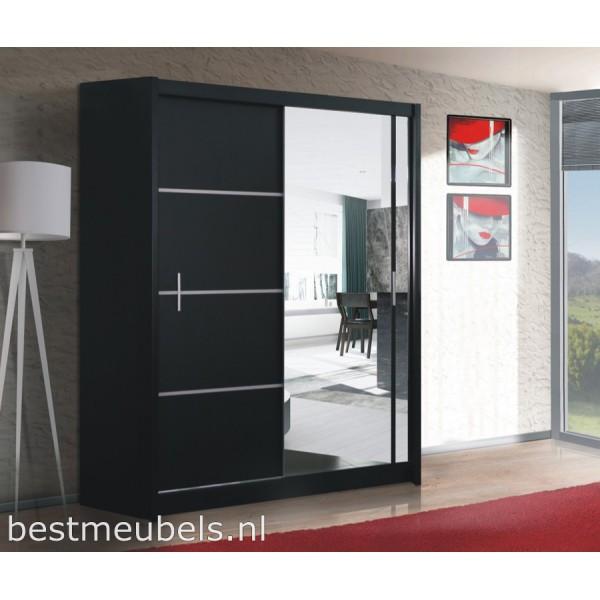 Vitessa 150 cm schuifdeurkast met spiegel schuifdeurkasten slaapkamers best - Spiegel cm ...