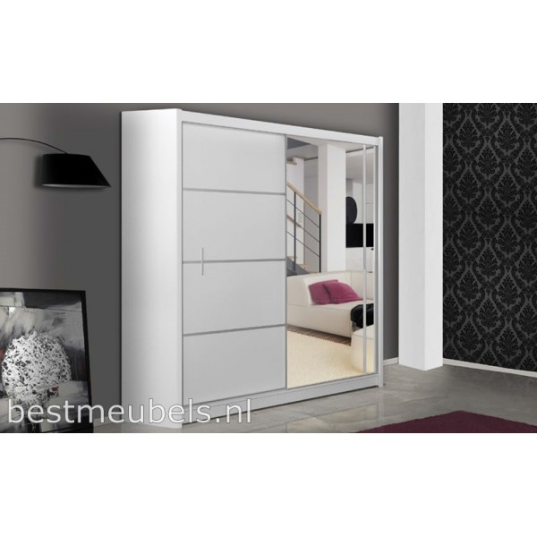 vitessa 180 cm schuifdeurkast met spiegel schuifdeurkasten slaapkamers best. Black Bedroom Furniture Sets. Home Design Ideas