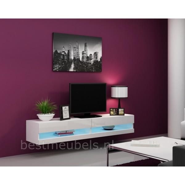 Tv Kast Voor Slaapkamer.Verdi 9 Nieuw 180cm Zwevend Tv Meubel Tv Kast Hoogglans Zwevende