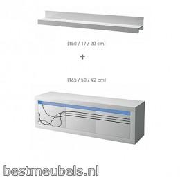 Tv Meubel LISSE + wandplank