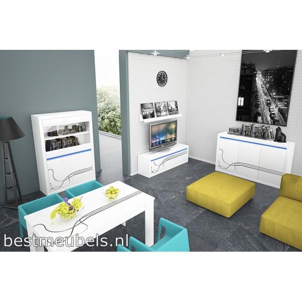 Tv Meubel Tv Kast LISSE + wandplank Tv-Meubels Woonkamer-Best