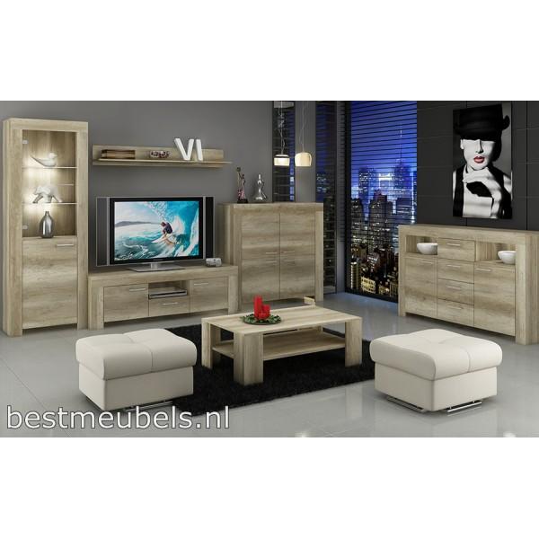 Tv Meubel SOEST + wandplank Tv-Meubels Woonkamer-Best