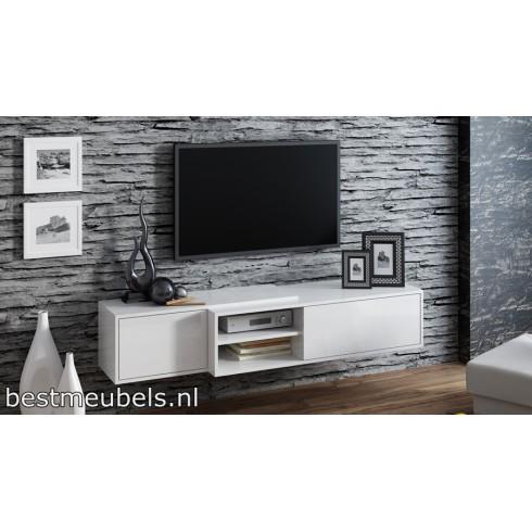 SAVO Zwevend Tv-Meubel Hoogglans 180cm