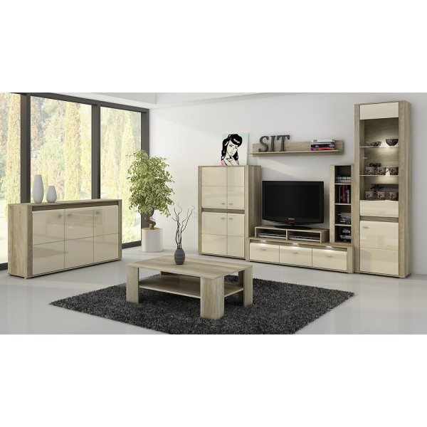 Complete woonkamer complete eetkamer celano hoogglans for Complete woonkamer meubels