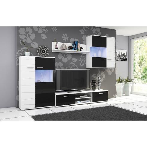 Tv-Wandmeubel GGEENP + LED Verlichting Tv-Wandmeubels Woonkamer-Best