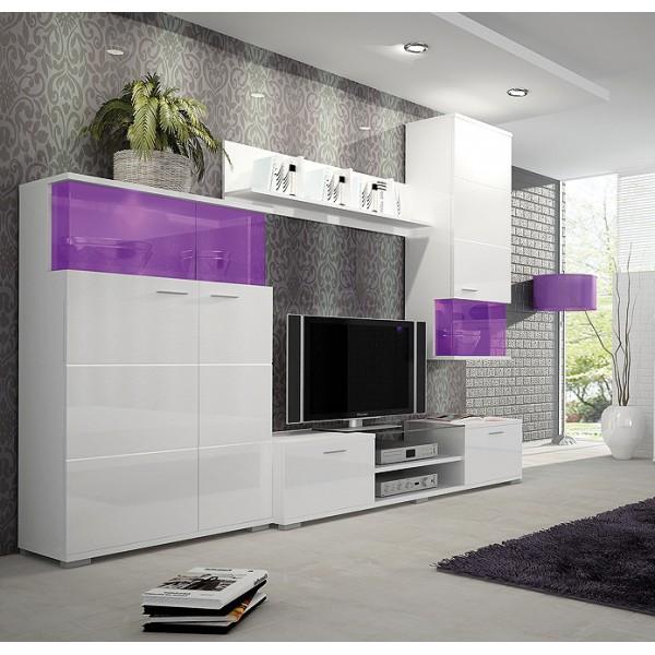 Wandmeubel , Tv wandmeubel LAVIK + LED verlichting RGB Tv Wandmeubels Woonkamer Best