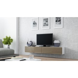 VERDI 1 Zwevend Tv-Meubel 180 cm , Tv-Kast Hoogglans Bruin