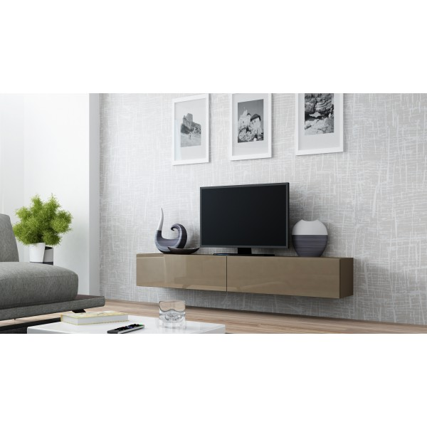 verdi 1 zwevend tv meubel 180 cm tv kast hoogglans bruin verdi