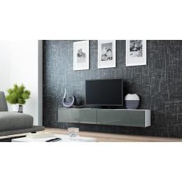 Zwevend Tv-Meubel VERDI 1 Hoogglans Grijs , Tv-kast  , 180cm