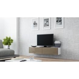 Zwevend Tv-Meubel Hoogglans Bruin , Tv-kast VERDI 4 140cm