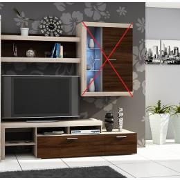 Tv-meubel 200 cm + wandplank , ANDEL 1, ANDEL 2
