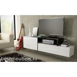 SAVO 3 Zwevend Tv-Meubel , Hoogglans 180cm