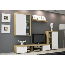 Wandmeubel , Tv-wandmeubel TONI 4 + LED Verlichting