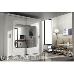 CONTI Kledingkast met schuifdeuren en spiegel 203 cm