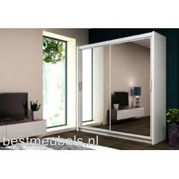PIERO Schuifdeurkast met spiegel 203 cm