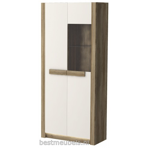 DOORN Vitrinekast met hoogglansfronten - 195 cm
